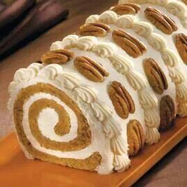 Beautifully Decorated Pumpkin Roll